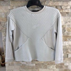 Zara Quilted Sweatshirt with Pockets